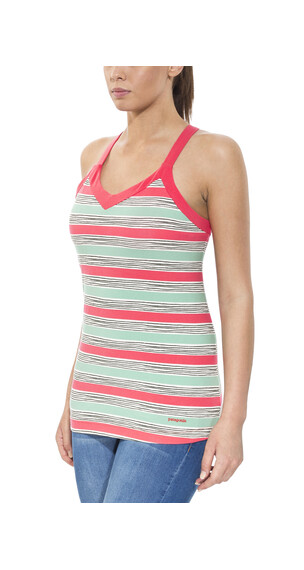 Patagonia Hotline Top Women Waterfront Stripe: Shock Pink
